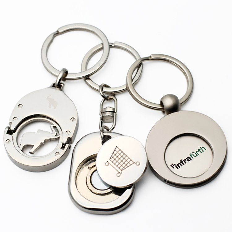 magnet trolley coin keychain